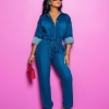 Summer fashion style regular women plus size jeans overalls