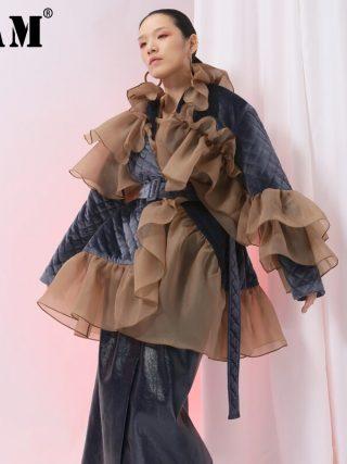 Velour Cotton-padded Coat Girls Jacket Style Tide