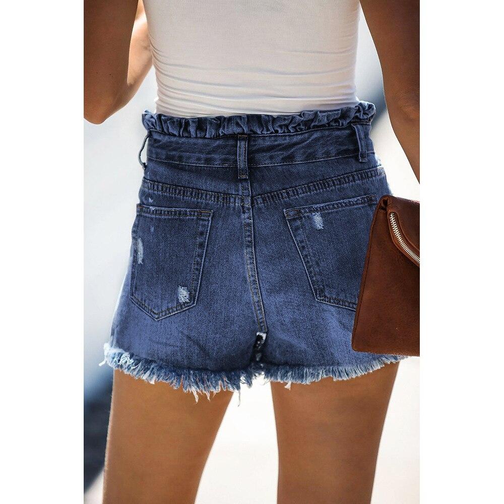 Women's Denim Shorts Jeans For Women Sexy Pants Streetwear Light Mid-Rise Women's Jeans Summer Cat Whiskers Bottom Street Trend 4
