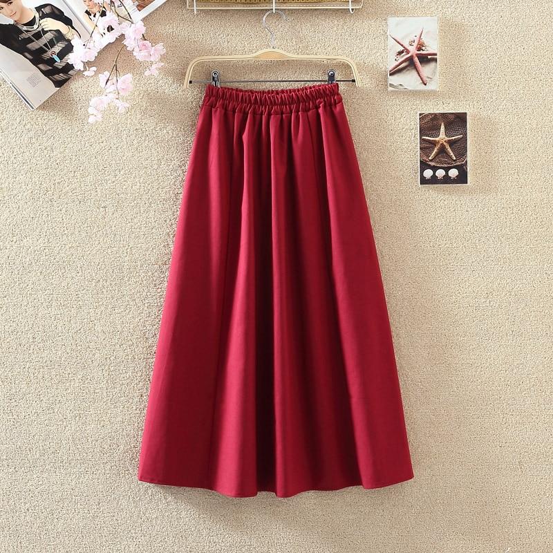 2019 Summer Women Long Skirts Vintage Cotton And Linen High Waist Women Skirts Saia Summer Skirt Womens Jupe Femme Saias Faldas 2