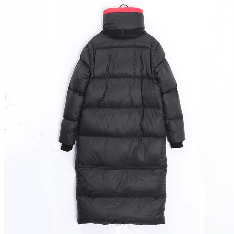 2020 Winter Long 90 %white duck down Coat Female Warm Parka fashion Women Down Jacket Warm Winter Jacket black Coats Tops YRF42 3