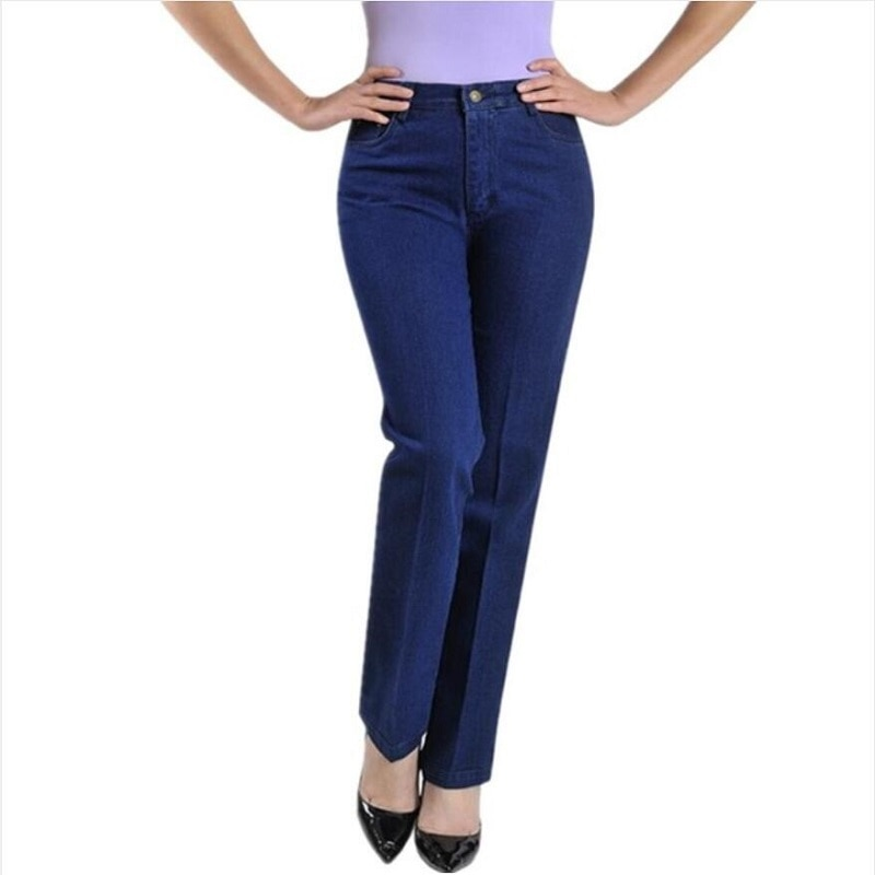 New Fashion 2020 Women Casual Straight Jeans Plus Size Jeans Female Denim Trousers High Waist Jeans For Women Free Shipping 4
