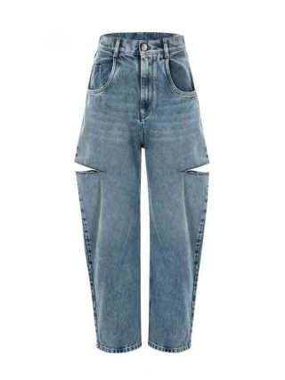 Girls Straight ripped Denims Informal Knife Lower Gap