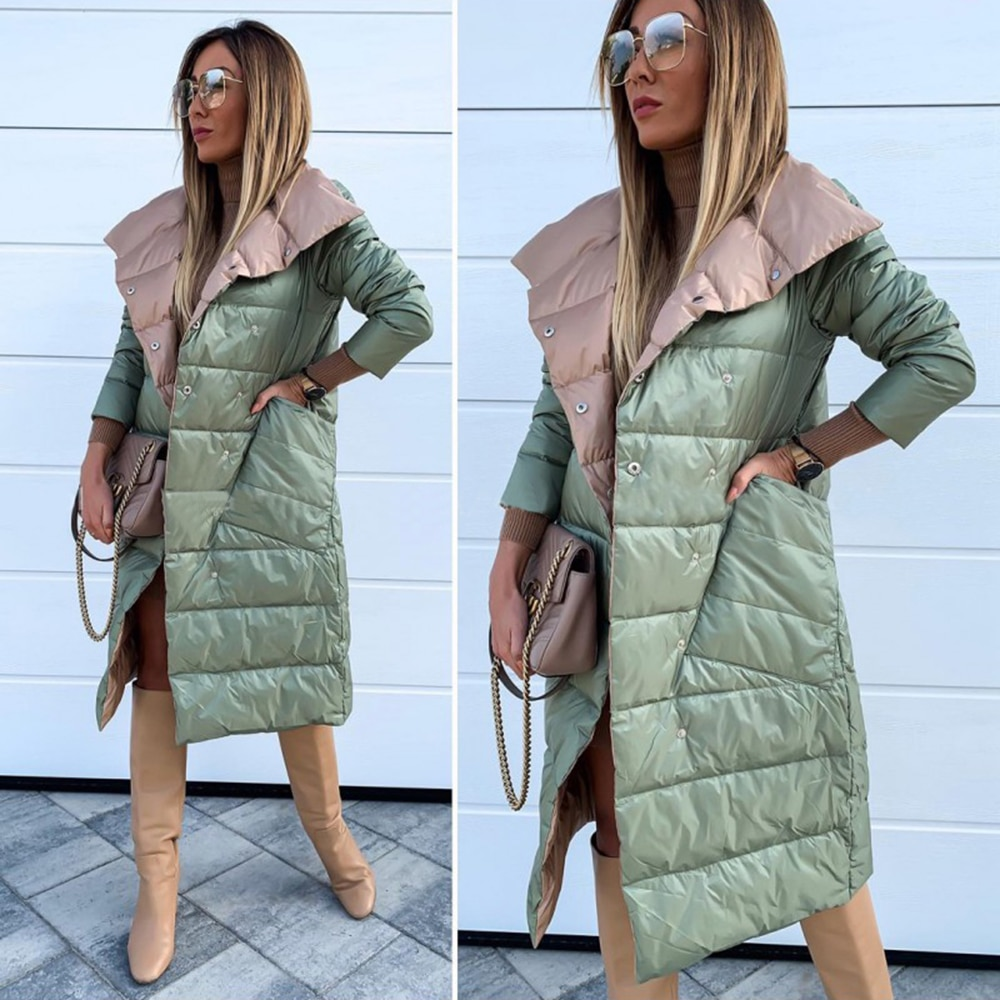 Winter Jacket Women Double-Sided Cotton Clothing Woman Jackets Winter Solid Puffer Jacket Overcoat Abrigos Mujer Invierno 2019 2