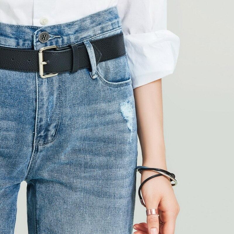 HAVVA 2020 New Women's Retro Washed Old Straight Denim Long Jeans Female Loose Slim Denim Pants K4973 3
