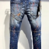 Traditional Style Designer Denims ladies/Males Straight Darkish Blue
