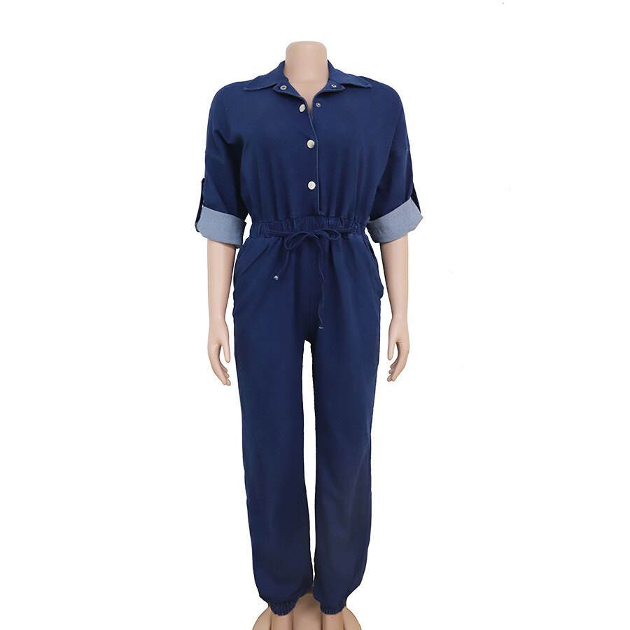 2020 summer fashion style regular women plus size jeans overalls 4