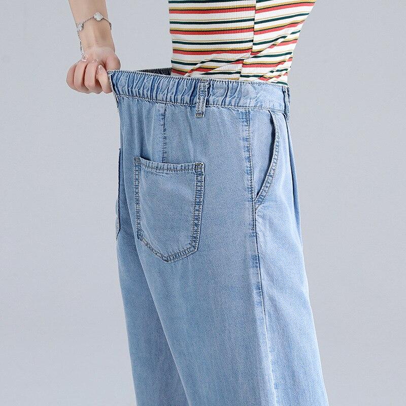 Woman Baggy Jeans High Waist Slim Thin Loose Straight Tencel Wide Leg Pants Mom Jeans Fall 2020 Women Cargo Pants Women 4