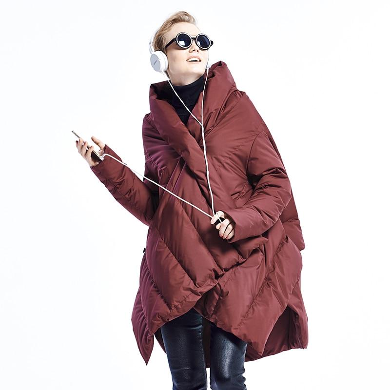 2020 New Fashion Women's Down Jacket Cloaks European Designer Asymmetric Length Winter Coat Female Parkas plus size outwear 2
