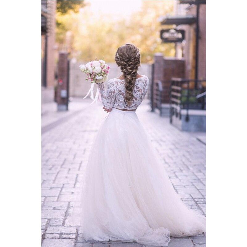 Soft White Tulle Wedding Skirts elegant High Waist Boho Beach Wedding Party Skirt Chic Overlap Women Long Maxi Skirts Plus Size 3