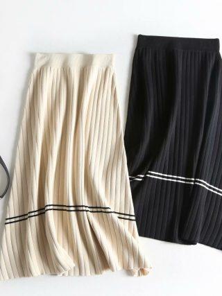Excessive Waist Girls Spring Skirts Classic Knitting