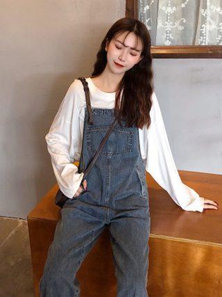 Cotton Free Waist Straight Adjustable Shoulder Straps
