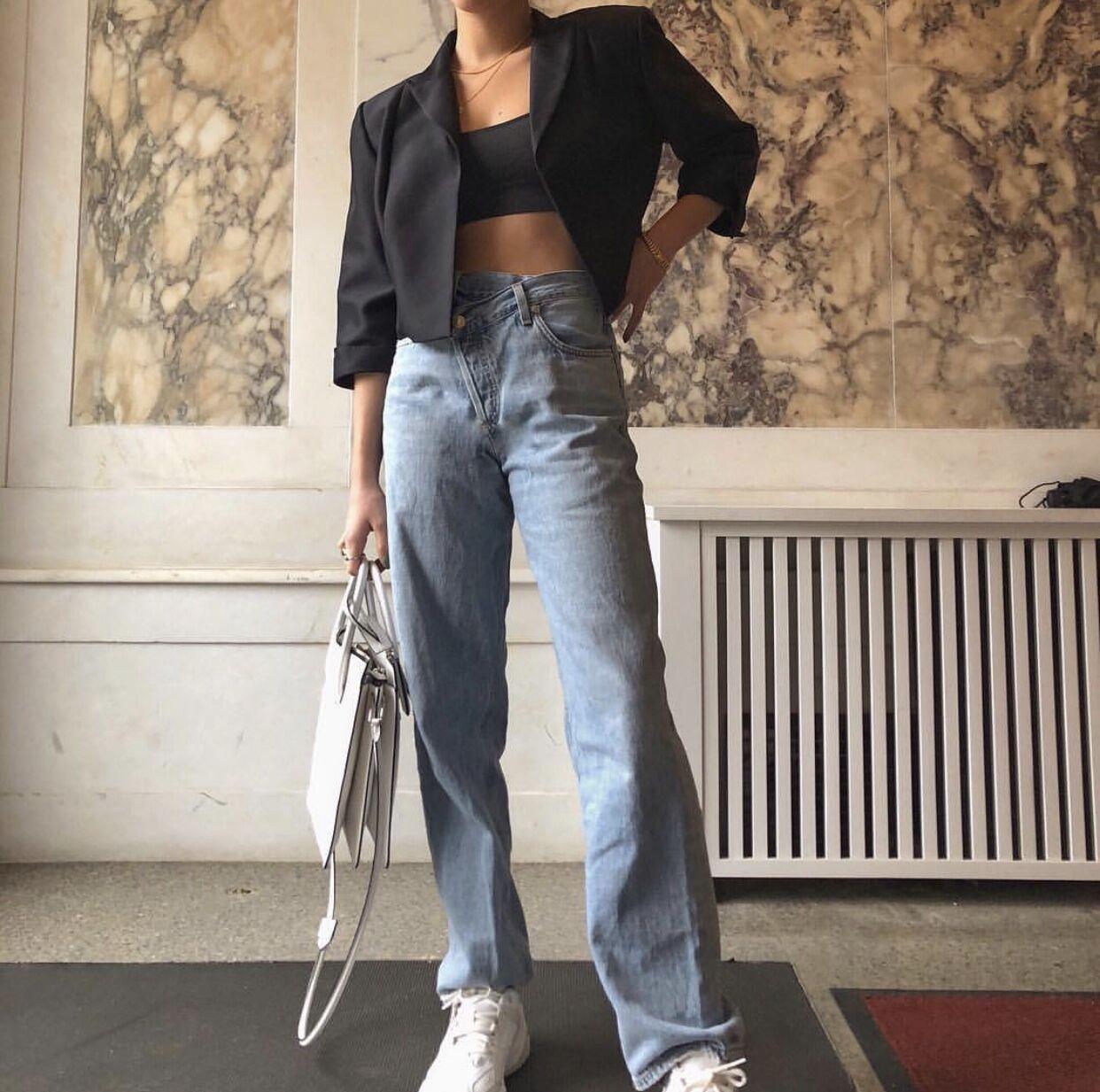 2020 High Waist Jeans Woman Casual Loose Women Denim Pants Straight Cotton Vintage Boyfriend Jeans Chic Long Trousers Streetwear 4