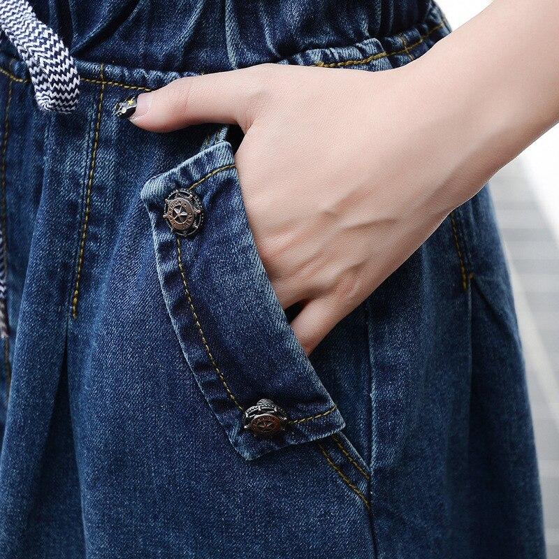 2019 High Waist Cotton Denim Women Long Skirt Lace-Up Waist Oversize Women Denim Skirt Plus Size 7XL Women Skirts Faldas Saias 3