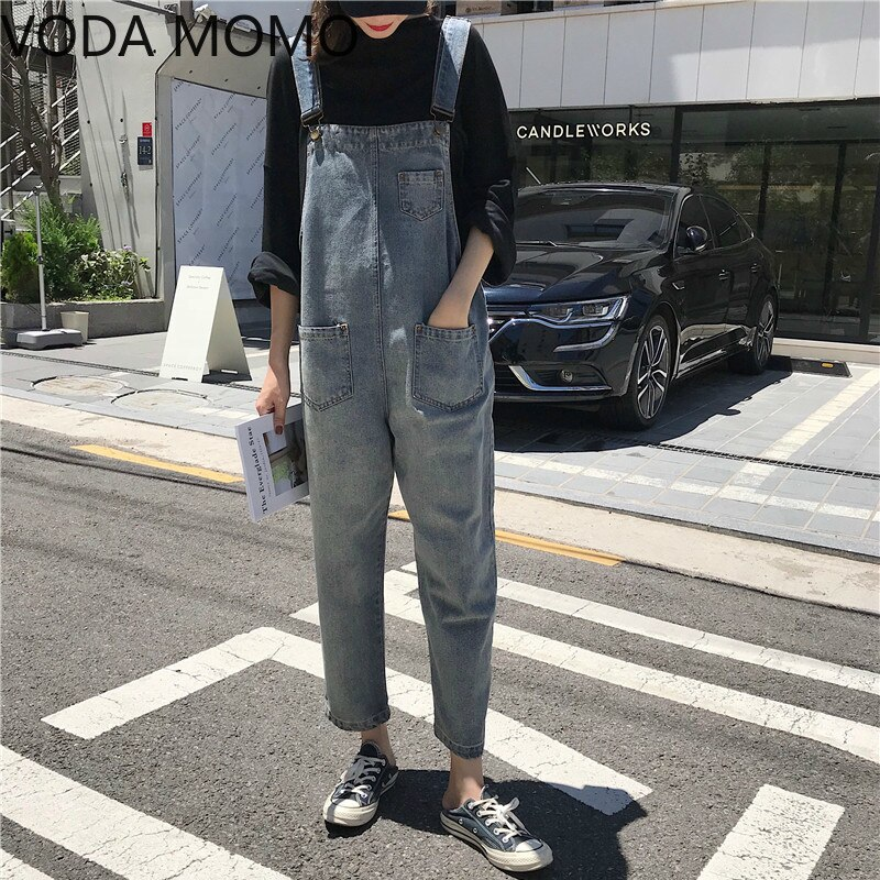 Women Clothing Sleeveless Denim Jumpsuit Women Overalls Jumpsuits loose Suspenders Jeans Women Overalls Female Rompers jeans 4