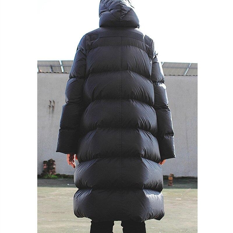 WSYORE Long Parka Women Black Down Jacket Female Winter New Dark Wind Long Down Coat Loose Hooded Warm Bread Jackets NS856 4