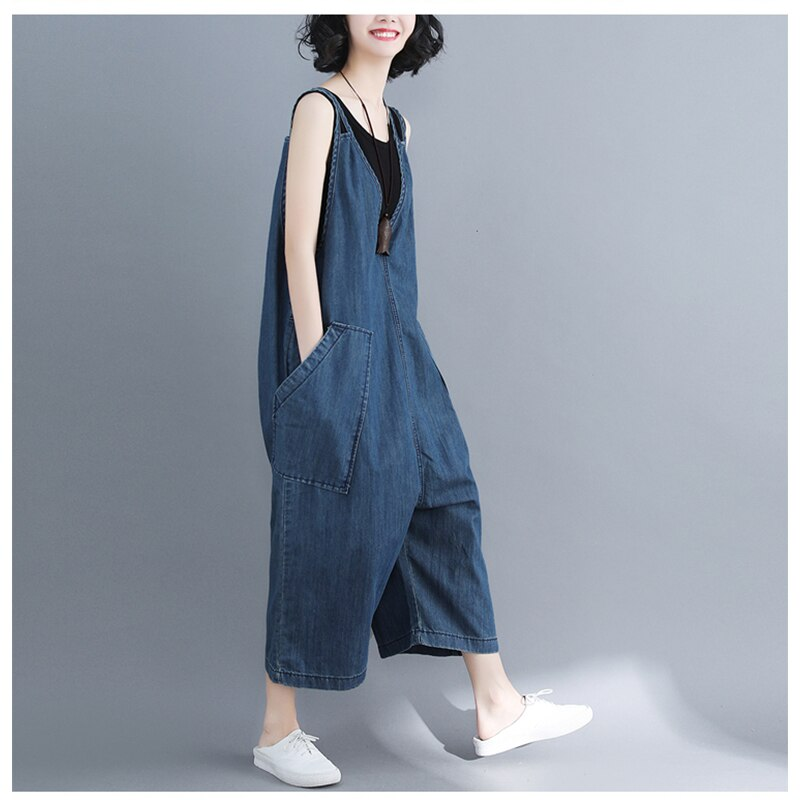 casual Denim Jumpsuit summer Ladies Long Pants rompers women jumpsuit Overalls ripped jeans Strappy Off Shoulder jeans PP-309 1