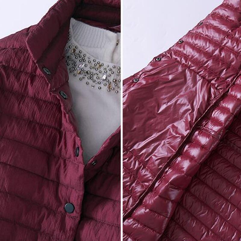 SEDUTMO 2018 Spring Ultra Light Womens Down Jackets Long Duck Down Coat Winter Puffer Jacket Slim Black Parkas ED225 4