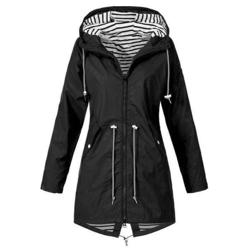 Women Jacket Coats Pure Color Waterproof Transition Jacket Outdoor Hiking Clothes Lady Lightweight Coat Streetwear Women Clothes 3