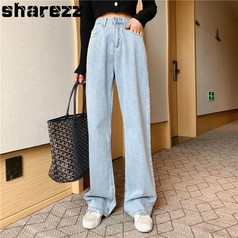 High Waist Mom Gloria Plus Size Denim boyfriend Jeans For Women Streetwear Straight Jean Femme Blue Cargo Pants Wide Pants