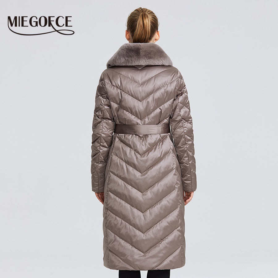 MIEGOFCE 2020 New Collection Women's Jacket With Rabbit Collar Women Winter Coat Unusual Colors That a Windproof Winter Parka 4