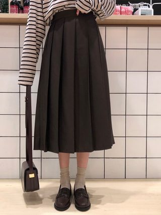 3 colours Spring Autumn Feminine lengthy Skirts Girls