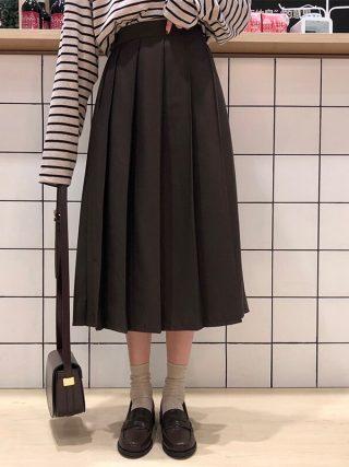 3 colours Spring Autumn Feminine lengthy Skirts Girls