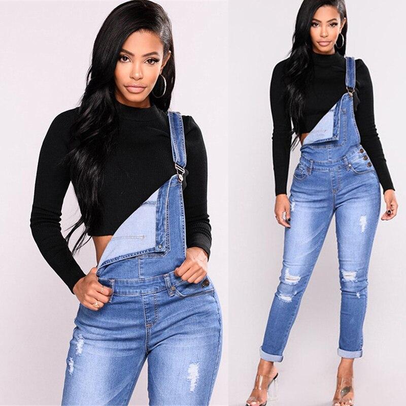Autumn pants ladies pants suspenders jean women hole pencil pants new belt jeans spring 2