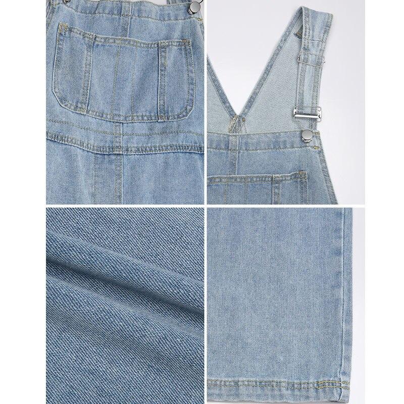 Denim Overall Women's 2020 New Summer Drape Wide Leg Jeans Korean-Style Loose Mopping Pants Women's Fashion 4