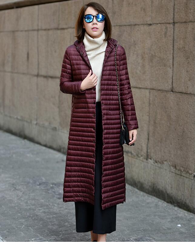 New Women's Down Jacket Coat Female 2020 Winter Down Jacket Women Coats X-Long 95% White Duck Down Coat Woman 2