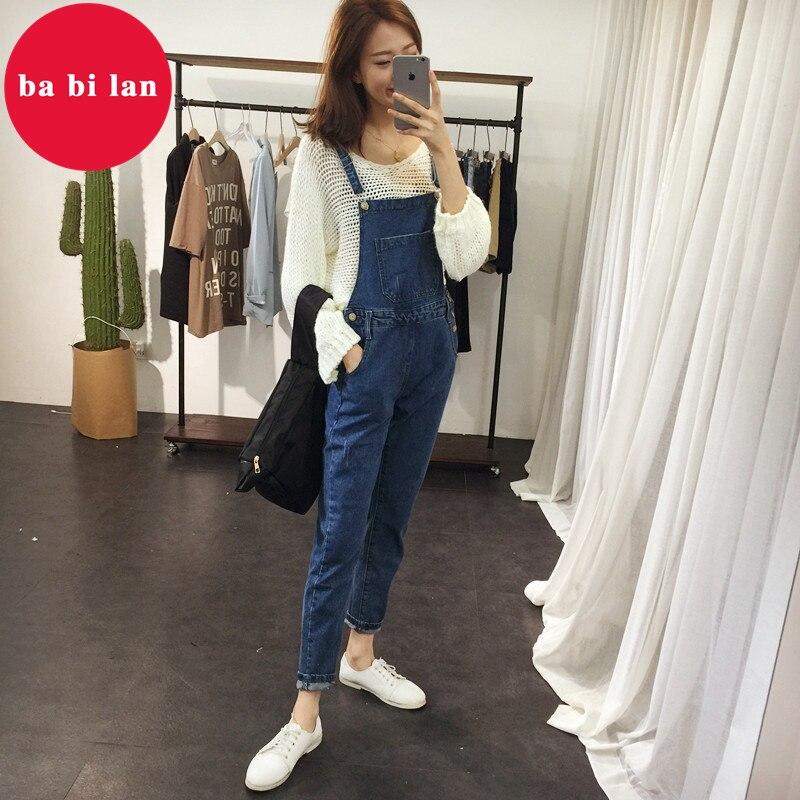 2020 ba bi lan Women Jeans Jumpsuit Large Size Loose Casual Denim Rompers Womens Jumpsuits Wide Leg Casual Denim Overalls