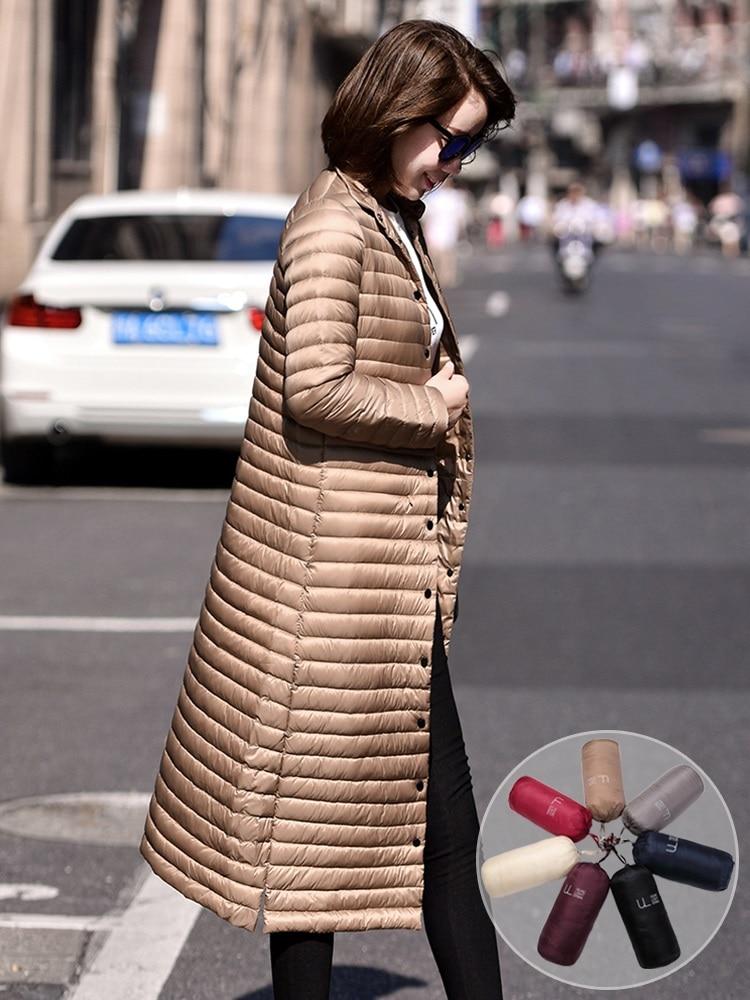 New Women's Down Jacket Coat Female 2020 Winter Down Jacket Women Coats X-Long 95% White Duck Down Coat Woman 4