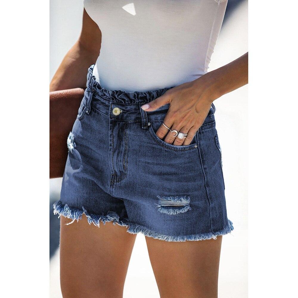 Women's Denim Shorts Jeans For Women Sexy Pants Streetwear Light Mid-Rise Women's Jeans Summer Cat Whiskers Bottom Street Trend 3