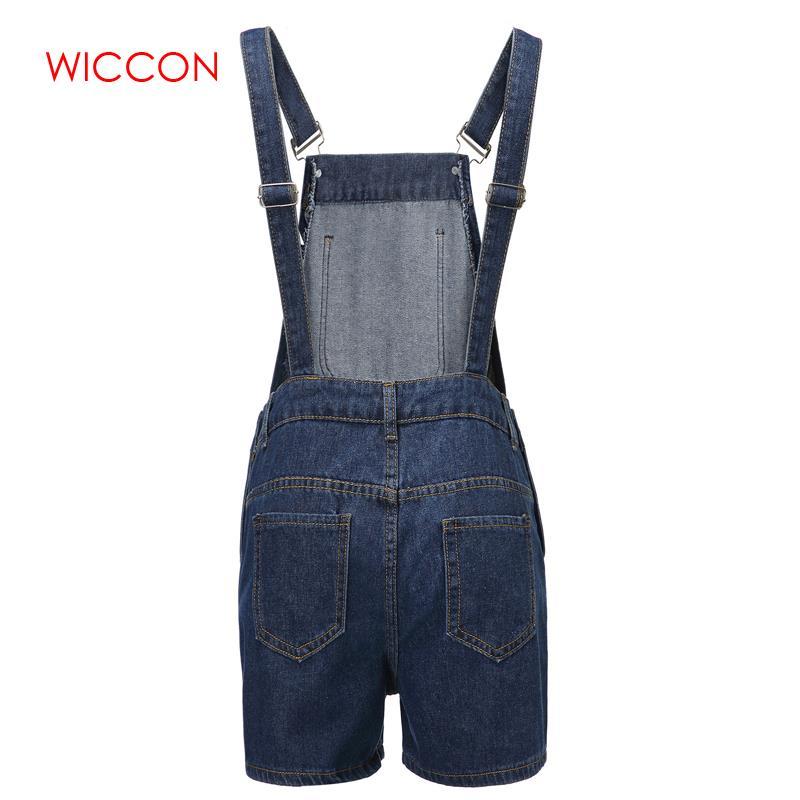 2020 Summer Spring Women Short Solid Denim Jumpsuit Romper Overalls Casual Jeans Shorts Girl Fashion Slim Playsuits 3