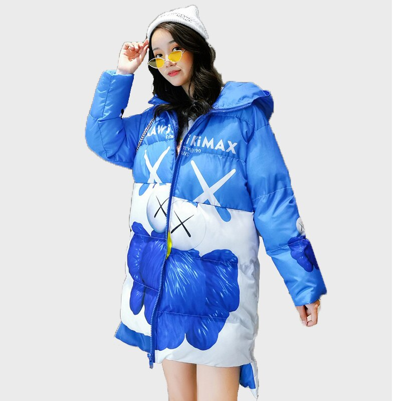 2020 New Winter Women Jacket Fashion Woman Cotton High Quality Female Parkas Hooded Women's Coats Brand Clothing Overcoats Mujer 1