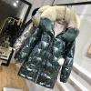 Winter Duck Down Jacket Ladies Hooded Massive Fox Fur Collar