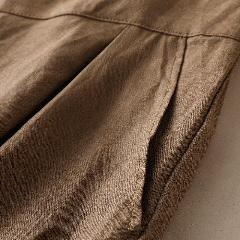 Bohemian Linen Skirt Women Fashion Korean Office Ladies Elegant Causal Plain Bow Long Maxi Skirts Vintage Ol A Line Skirts Green 4