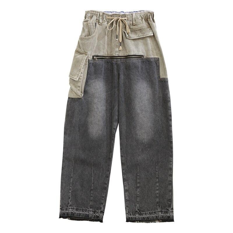 Ladies Casual Jeans Femme Straight Pants 2020 New Arrivals Zipper Jeans Woman Elastic Waist Push Up Ripped Denim Trousers Z2 4