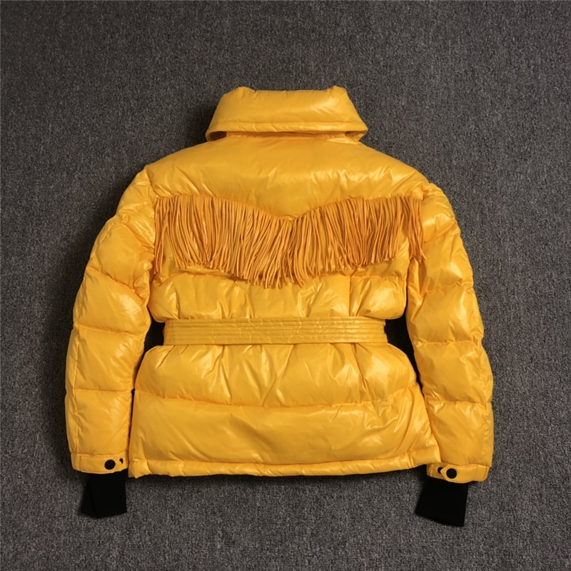 high quality women down jackets new winter hooded down coats with sash & tassels 90% white duck down women fashion winter coats 2
