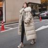 Winter feminine Korean zipper Fake fur Hooded Lengthy Parker