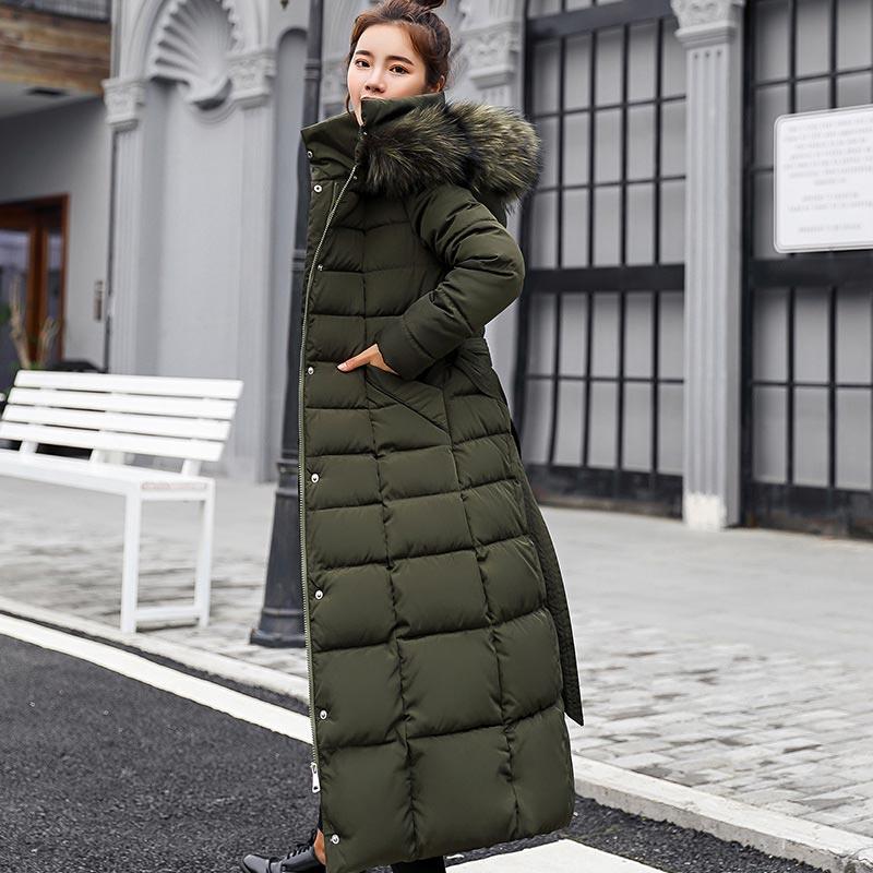 Winter women down jacket female coat 2020 new thick warm long down coat female outerwear fashion hooded winter jacket women 1
