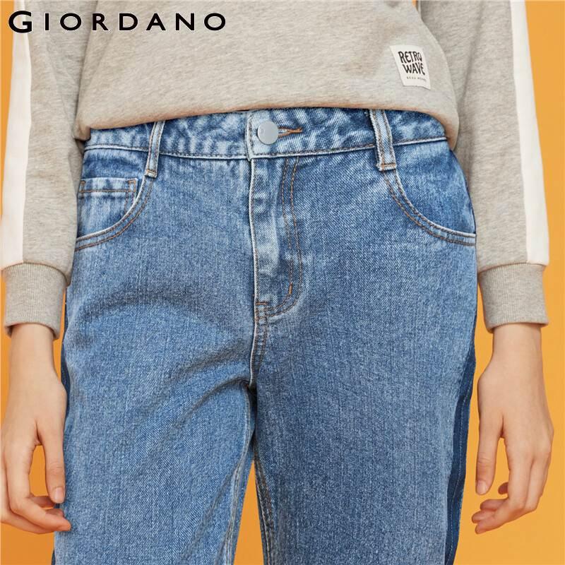 Giordano Women Jeans Mid Rise Straight Ankle-length Denim Jeans Slant Pockets Casual Calca Jeans Feminina 05429313 3