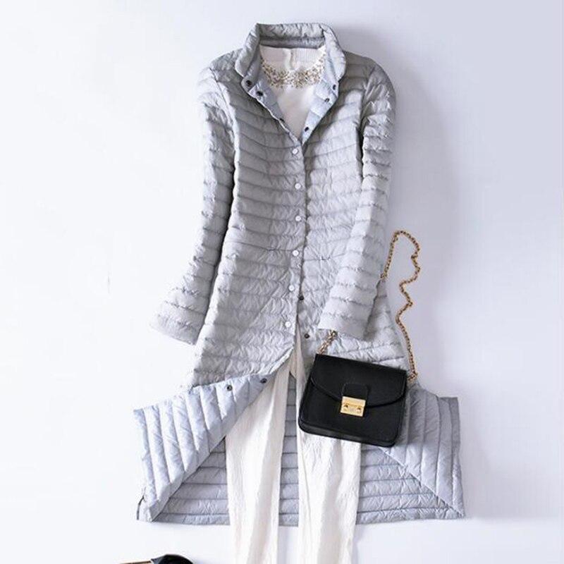 SEDUTMO 2018 Spring Ultra Light Womens Down Jackets Long Duck Down Coat Winter Puffer Jacket Slim Black Parkas ED225 3