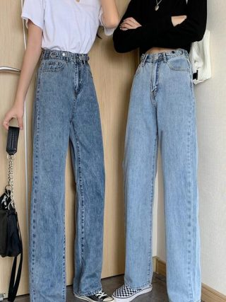 Summer season new straight unfastened trousers skinny