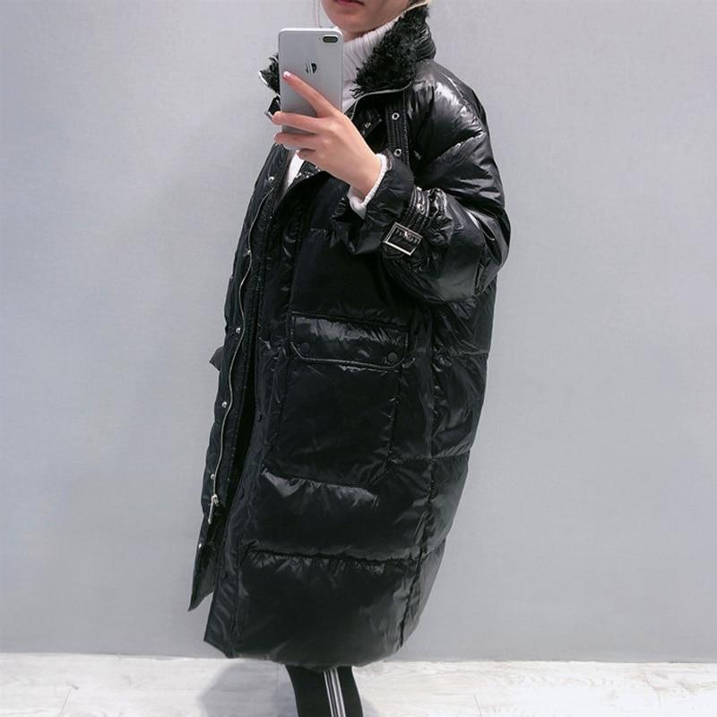 2020 Winter Long 90% White Duck Down Coat Female Thick Warm Parka Women Down Jacket Warm Winter Jacket Black Coats Outwear 4