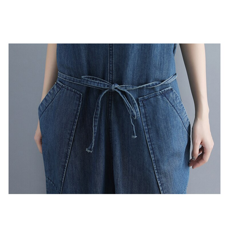 casual Denim Jumpsuit summer Ladies Long Pants rompers women jumpsuit Overalls ripped jeans Strappy Off Shoulder jeans PP-309 4