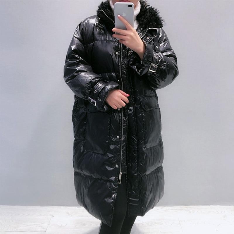 2020 Winter Long 90% White Duck Down Coat Female Thick Warm Parka Women Down Jacket Warm Winter Jacket Black Coats Outwear 1