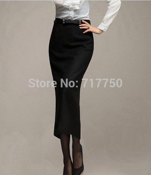 Autumn Winter Skirt Women Long Skirt Thick High Waist Pencil Skirt Ladies Elegant Slim Plus Size Woolen Skirts Women XS – 5XL 3
