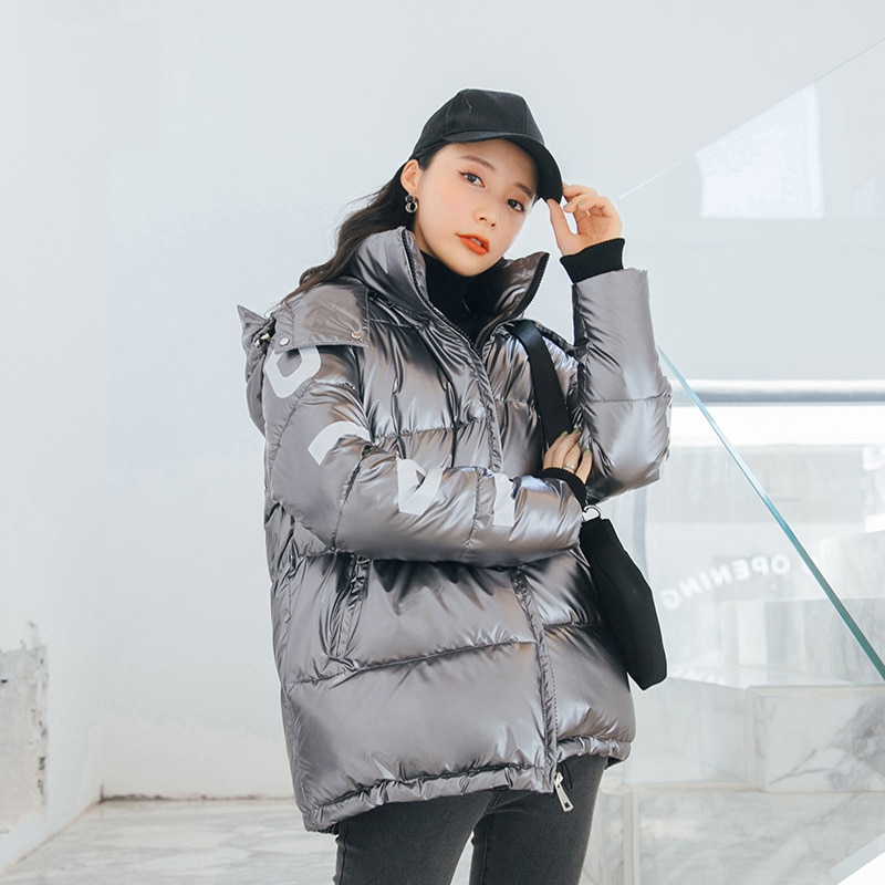 Women's Down Jacket Hood Down Coat Women Jacket Plus Size Parka Winter Puffer Jacket Coat Warm Oversize Lady Down Jackets 2