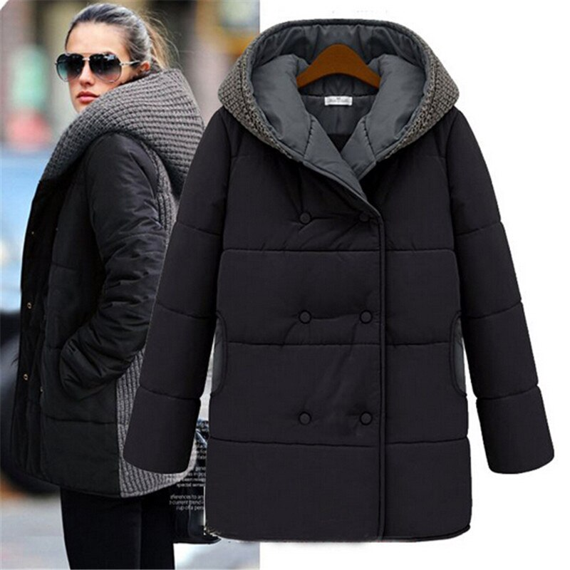 Women's Winter Jacket Europe Style Parka Women Jackets Down Cotton Long Overcoat Slim Hooded Plus Size Coats Outwear 1